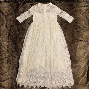 Trish Scully size 10 white lace dress